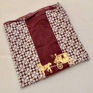 Coach Accessories - 🌟HP🌟Coach Cotton Scarf